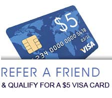 Refer a Friend to Ohio Insurance Center and earn a $5 Visa Card!